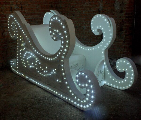 Новогодние светящиеся Сани 3 метра